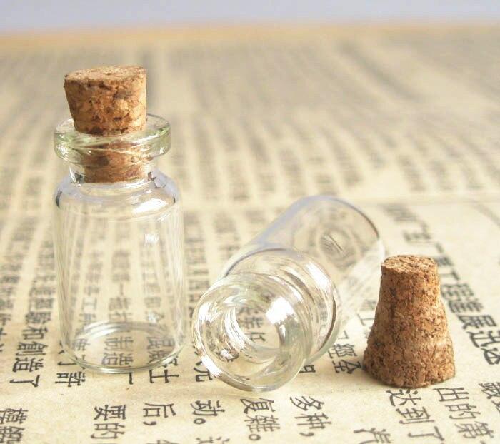 1000x1 мл стеклянные мини прозрачные бутылки с пробковое дерево 13 мм* 24 мм* 6 мм 1cc стеклянный пузырек пробника 0,5 мл 2 мл 3 мл до 1000 мл доступен