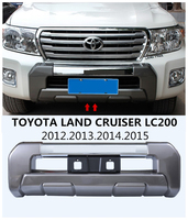 Car Front BUMPER GUARD For TOYOTA LAND CRUISER LC200 2012 2013 2014 2015 High Quality Auto BUMPER Plate Accessories