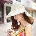 [AETRENDS] 2017 Nuevos Sombreros de Verano para Mujeres Deporte Viajes Playa Sombrero Tapa de Protección UV Z-2715