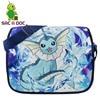 Pokemon Vaporeon Printing Shoulder Bags School Bags Cartoon Anime Pokemon Cool Travel Bag Messenger Bags For