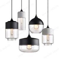 BLUBBLE Geometric Nordic Modern Pendant Lamp Glass Fixtures E27 E26 LED Pendant Lights for Kitchen Restaurant Bar Pendant Lamp