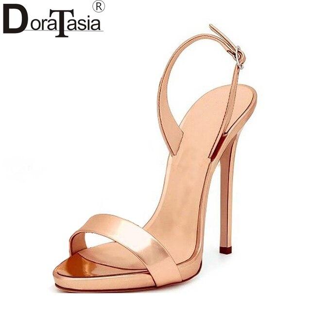 8c4423744 33-43 DoraTasia 2018 tamanho grande sapatos de marca mulheres sexy de salto  alto fino