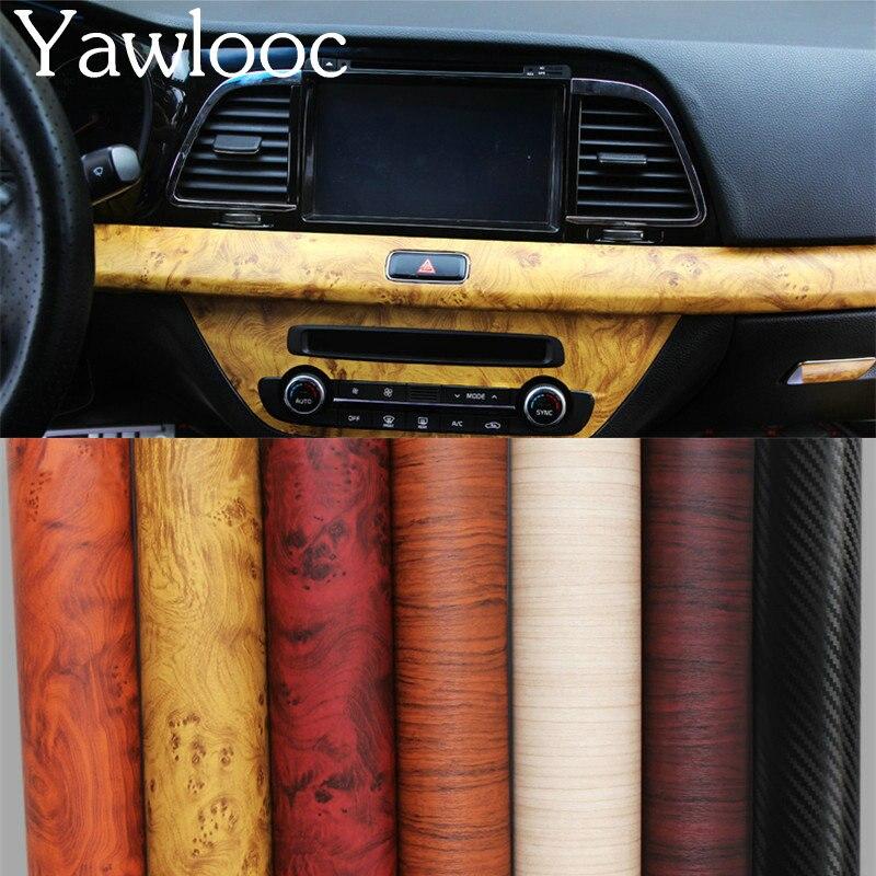 1 Pz 120*30 Cm Vinile Autoadesivo Wood Grain Texture Car Wrap Adesivi Mobili Da Parati Interni Auto Carta A Grana Del Legno Pellicola
