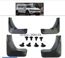 Set Modellato Paraspruzzi Per VW Tiguan 2 Mk2 2016 2017 2018 Paraspruzzi Paraspruzzi Anteriore Posteriore Mud Flap Parafanghi parafango Kit