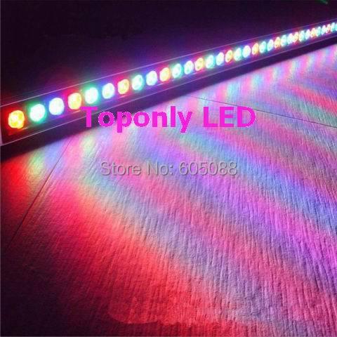 High Quality 36pcs 1w Cree XPE led flooding light IP65 DC24v 1m led projection lighting R/G/B/W/Y/RGB colors led wall washers