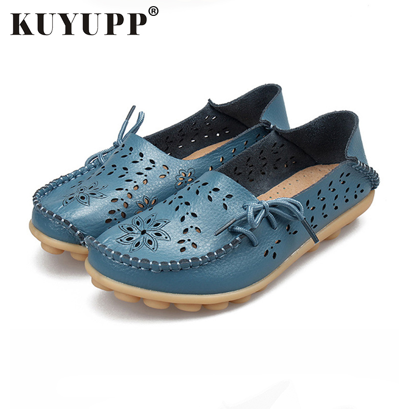 KUYUPPLeather  Women Shoes BIG SIZE Moccasins multicolor Mother Shoes Soft Leisure Flats Female Driving Casual Loafers SSTT679