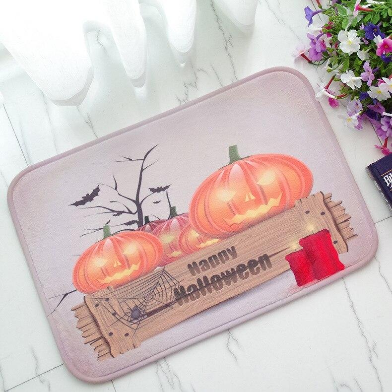 Carpet Halloween Pumpkin The Lantern Festival Day Happy Land Pad Thanksgiving Decoration Gift Doormat Welcome Mat Throw Rugs