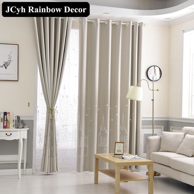 Modern 3d Blackout Curtains For Living Room Bedroom Boy Girl Window Curtanis For Children Curtains Baby Room Panel White Blue