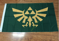 3x5FT Zelda Triforce Flag 100D Digital Printing Banner Polyester Free Shipping