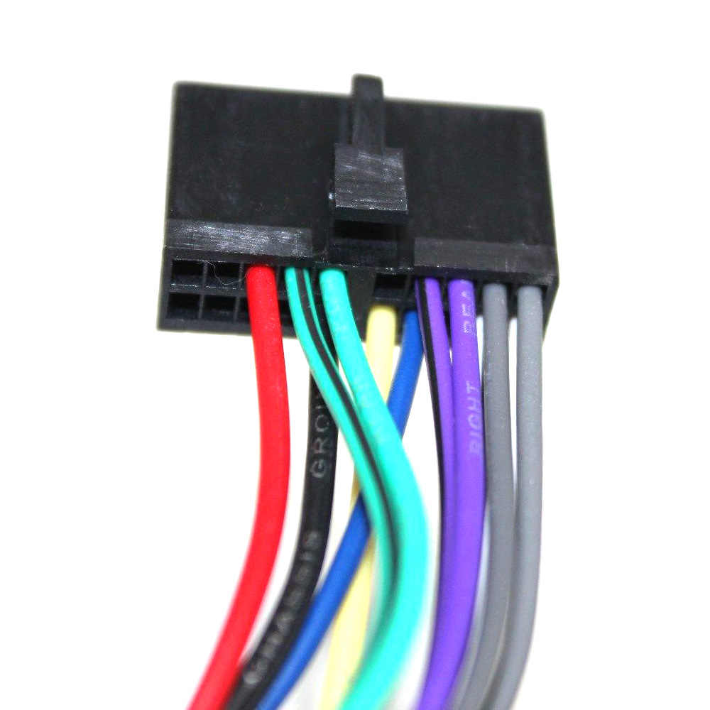 atocoto wiring harness connector wire adapter for jensen parrot car cd  dvd radio audio stereo iso