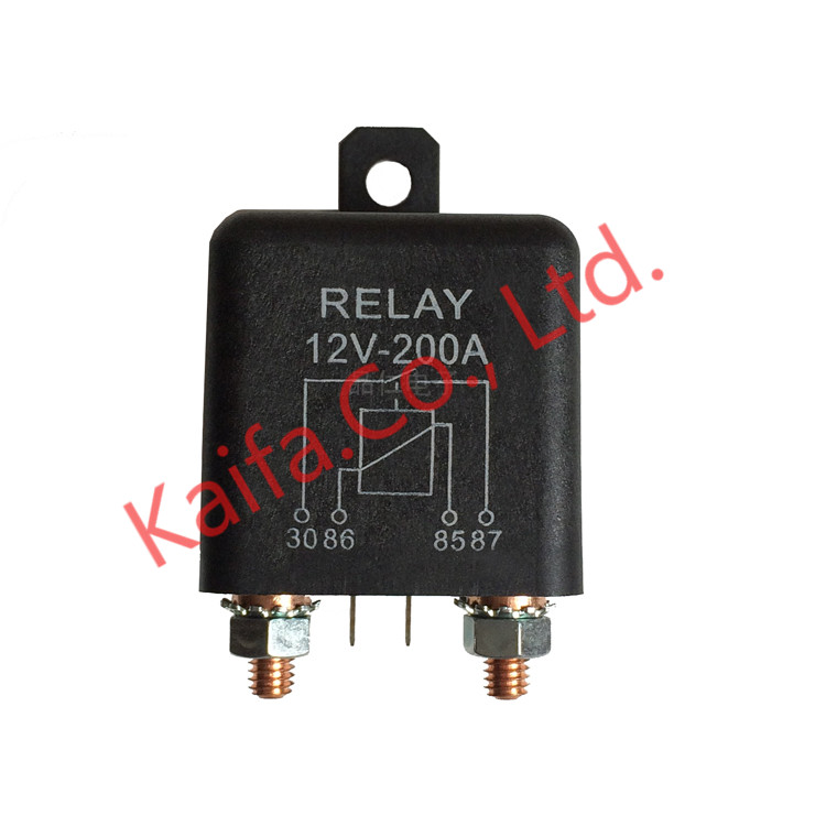 Car Truck Motor Automotive high current relay 12V/24V 200A 2.4W Continuous type Automotive relay car relays