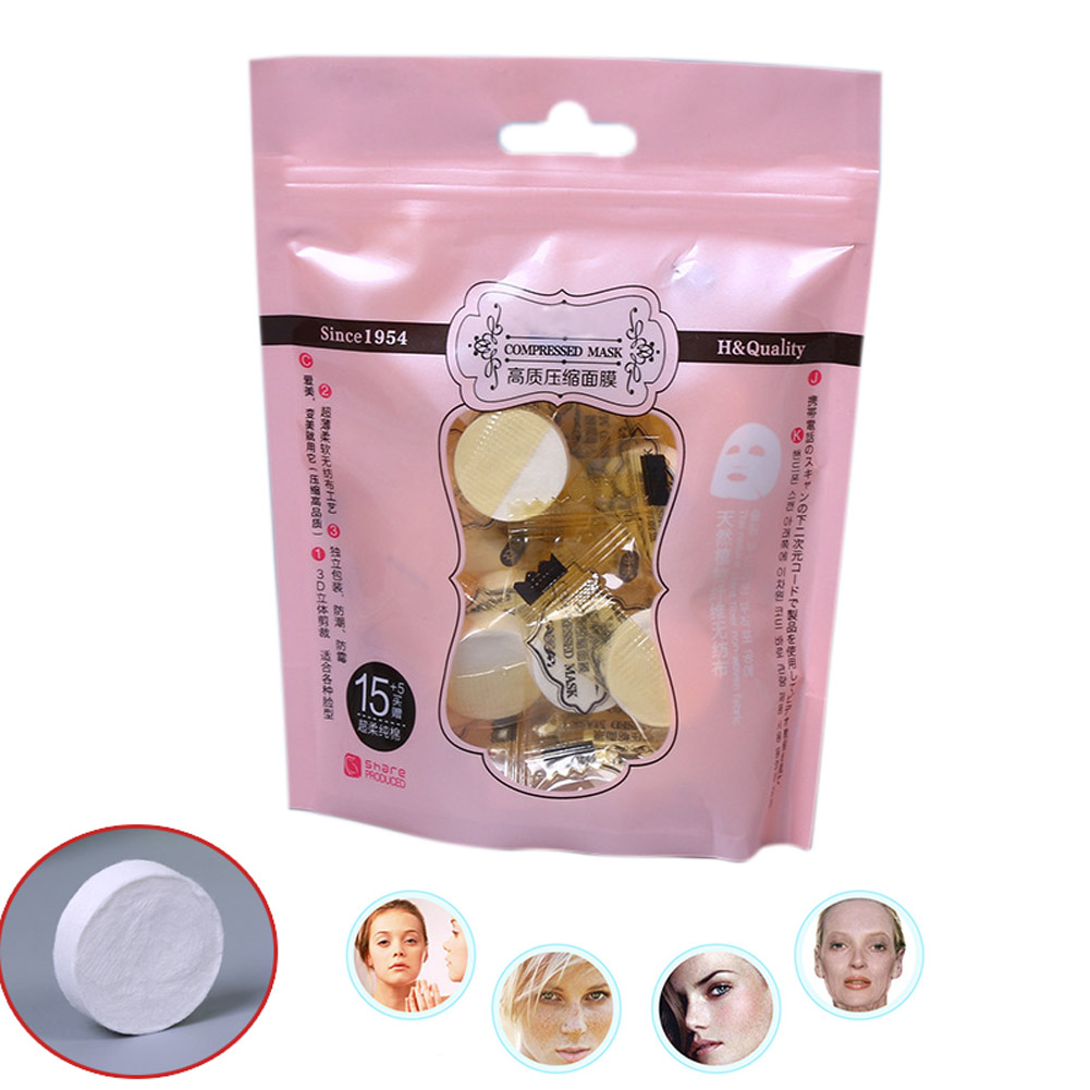 20 Pcs Compress Facial Mask Magic  DIY Masks Face Skin Care Acne Tender Whitening Moisturizing Paper For Women Lady H7JP