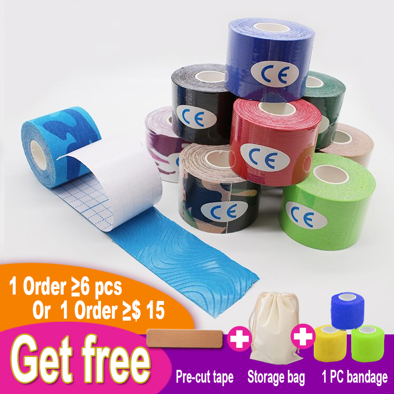 Impermeable Sports Tape Kinesiology Taping 5cmX5m Athletic Physio Cure K Tape Cinta Kinesiologica Finger Wrap Muscle Tape