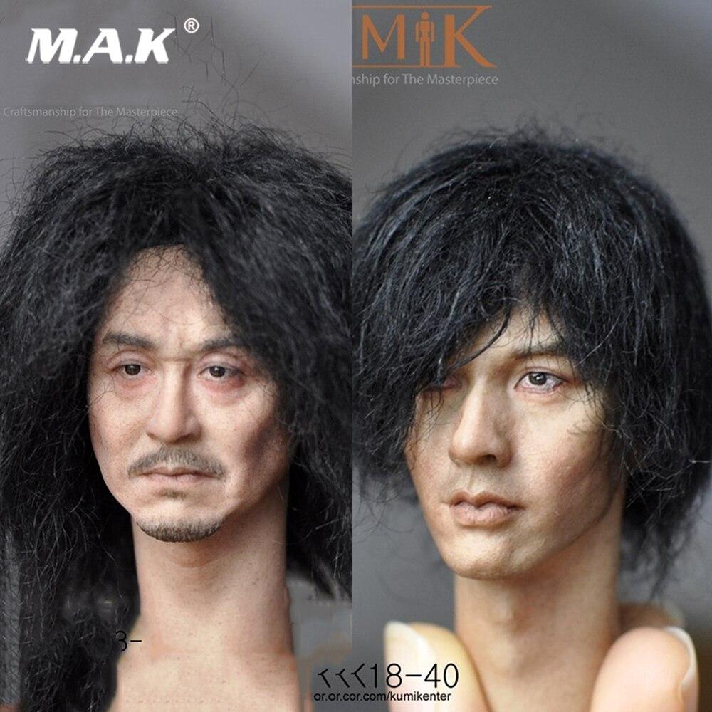 14bae7bf055a8 KUMIK 18-39 40 1 6 do Sexo Masculino Colar Cabeça Esculpir Figura
