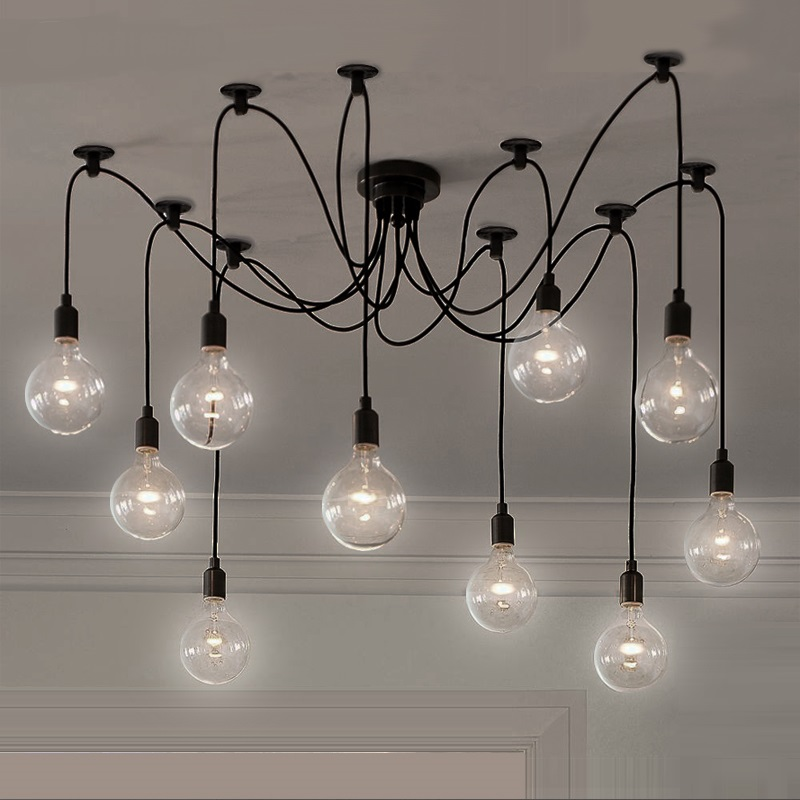 Retro industry village industrial Edison pendant light decorative clothing store bedroom living room bar creative lamp ZH GY292 personalized clothing store track lamp