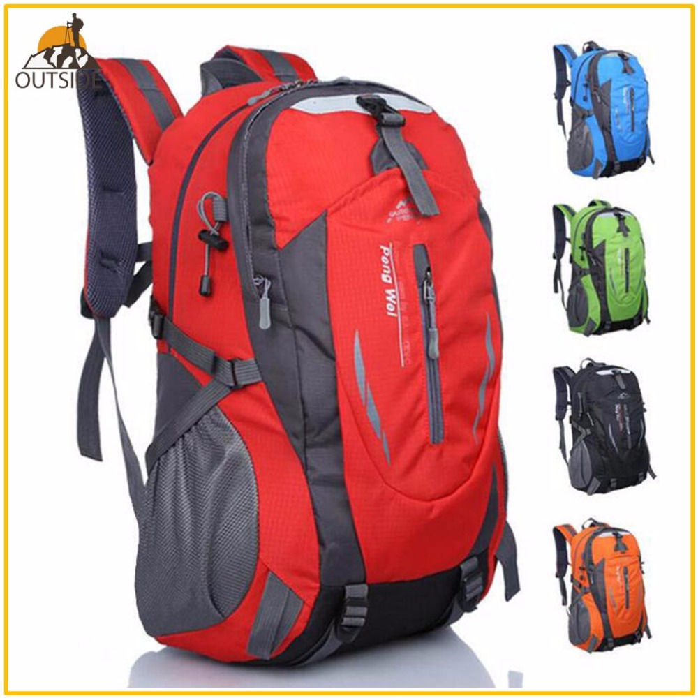 Quality Rucksack Camping Hiking Backpack Sports Bag Outdoor Travel Backpack Trekk Mountain Climb Equipment 45L Men Women