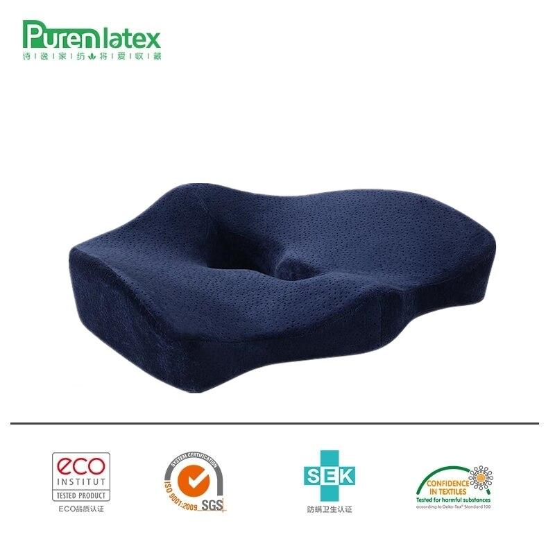 PurenLatex Orthopädische Steißbein Memory-schaum Stuhl Kissen Büro Sitz Pad Auto Sitz Rollstuhl Große Fett Kissen Matten Hämorrhoiden Behandeln