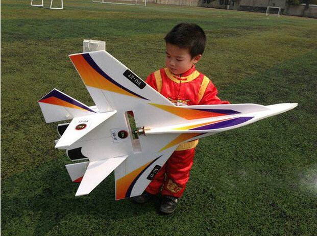 New DIY large RC Fighter Su 27 Flanker RC Airplane Powerful Bomber LED 2.4G KT Board Remote Control Aircraft DIY Avion
