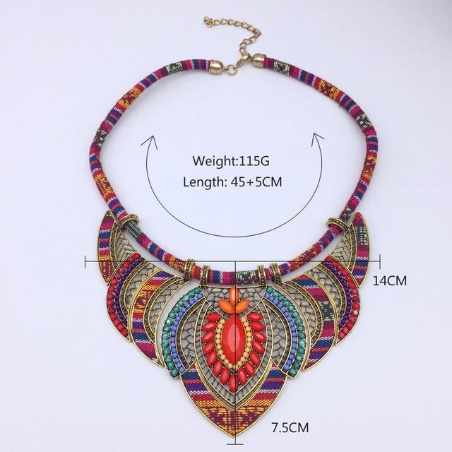 Female vintage choker pendants&necklaces big boho necklaces ethnic bohemian jewelry statement tribal orange bijoux femme mujer 3