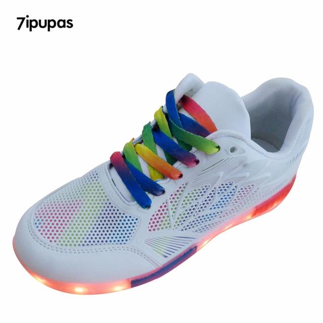 7 Ipupas Sommer Unisex Schuhe Mit Licht Sohle Breathable Beiläufige