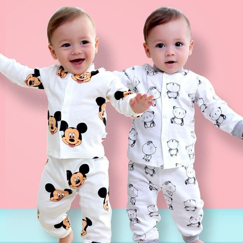 2019 Autumn Cute Cartoon Newborn Baby Boy Baby Romper Long Sleeve Suit Baby Girl Clothes Suit Newborn Baby Boy Clothes