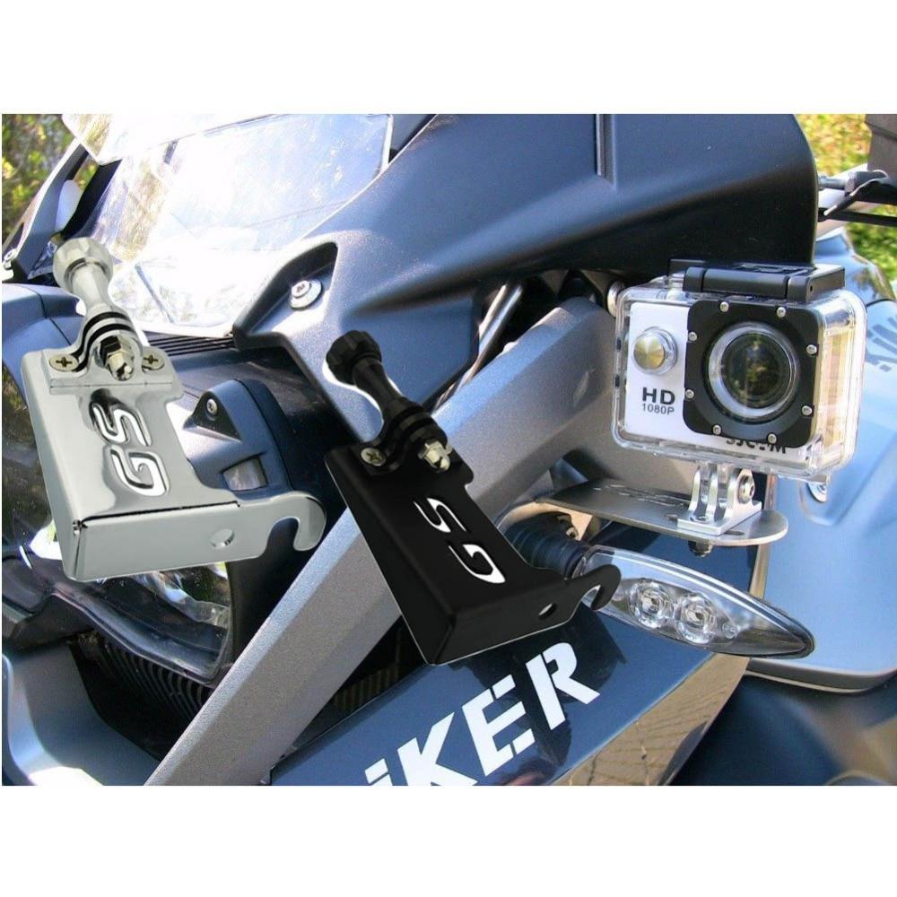 2Color Steel Motorrad Gopro 4 5 Front Left Bracket Holder Cam Camera Mount for BMW R 1200 GS R1200GS 2013-2016 BMW R1200GS Adv