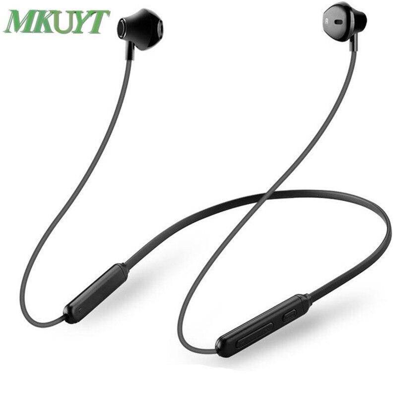 MKUYT Bluetooth Kopfhörer Drahtlose Neckband Sport Magnetische Doppel Batterie Bluetooth Kopfhörer Headset Stereo Bass mit Mic Musik