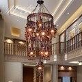 Турецкая богемная средиземноморская ресторанная лампа для спальни  ретро многоцветная бронзовая подвесной светильник из кованого железа ...
