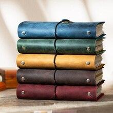 Handmade 100% Vintage Leather Traveler Notebook caderno Diary A6 A7 A5 notepad planner bullet journal calendar for school spiral стоимость