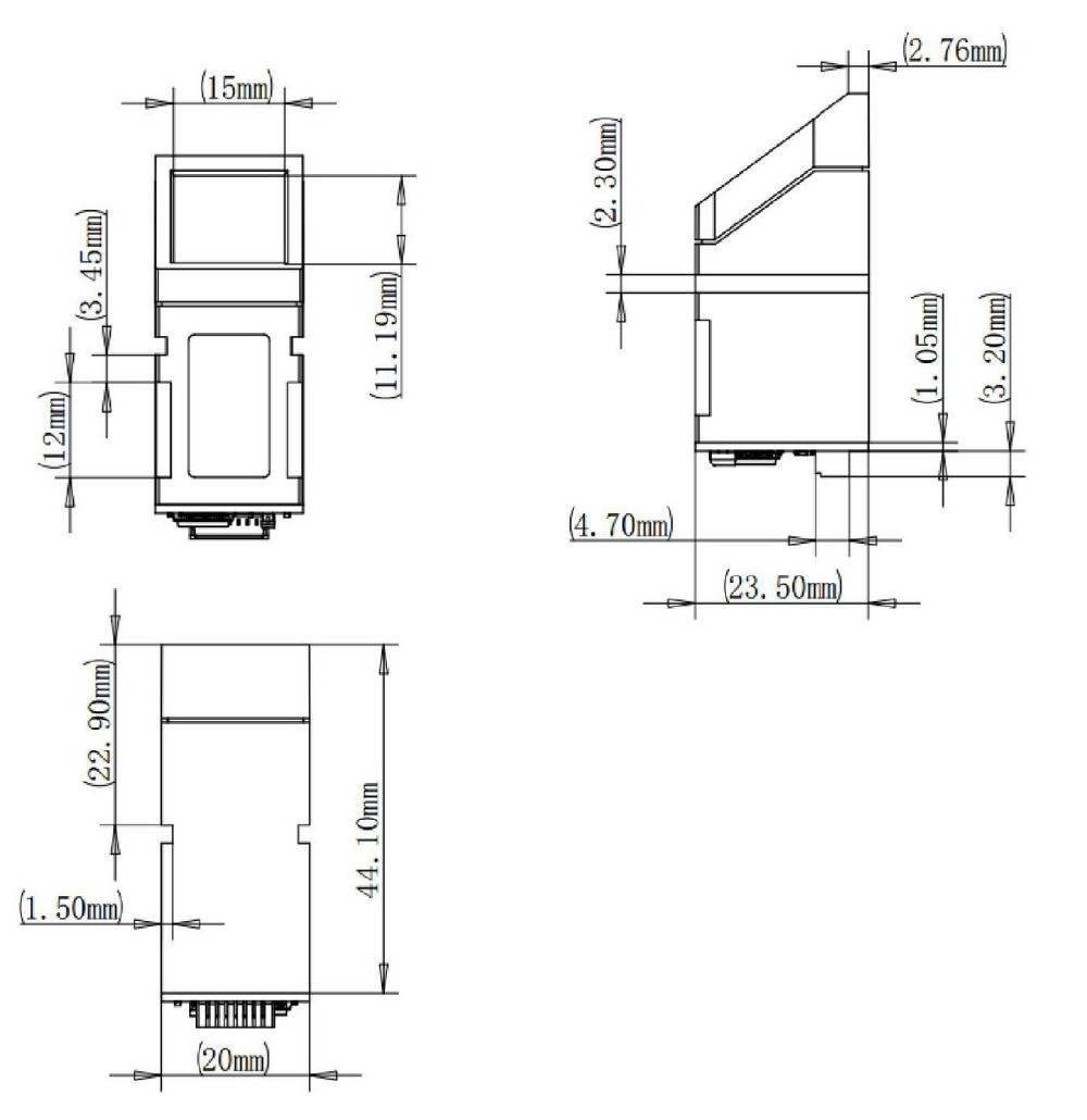 GROW R307 Função de toque no dedo Leitor óptico de sensor de - Segurança e proteção - Foto 6