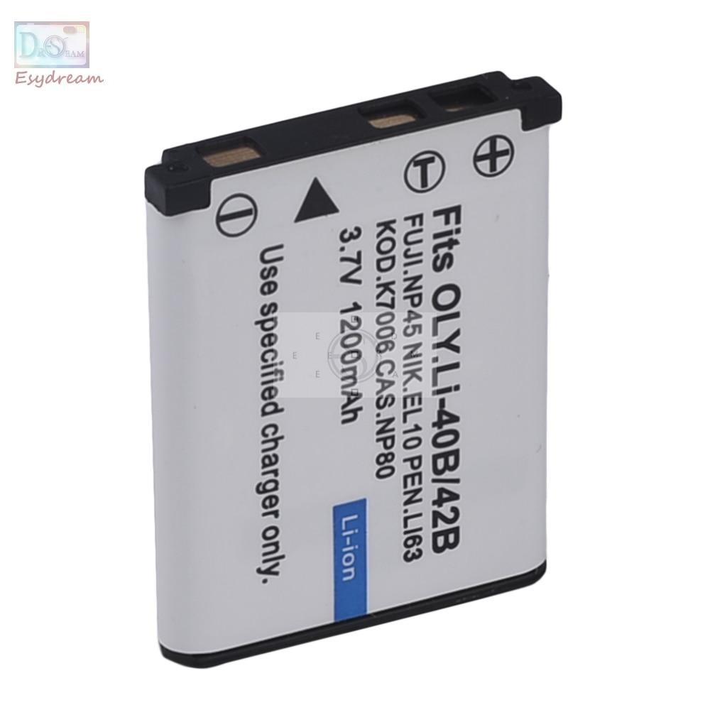 Klic-7006 7006 1200 mAh Batterie pour Kodak EasyShare M531 M530 M550 M575 M580