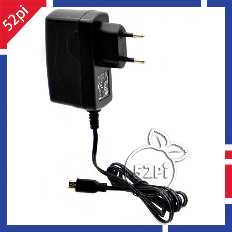Raspberry Pi 3 5V 2.5A AC Power Supply Charger Micro USB Adapter EU Plug with Switch Cable for Banana Pi R1