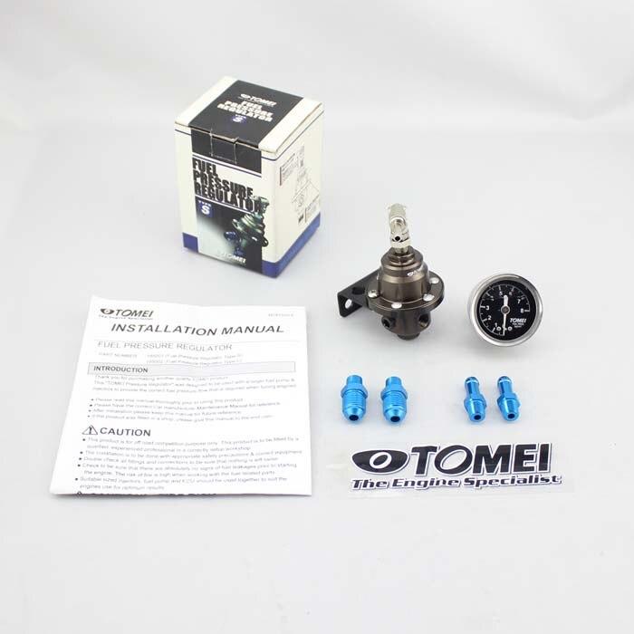 Tomei Neue JDM high-performance Aluminium Einstellbare Kraftstoffdruckregler FPR Typ S Mit Schwarz Gauge