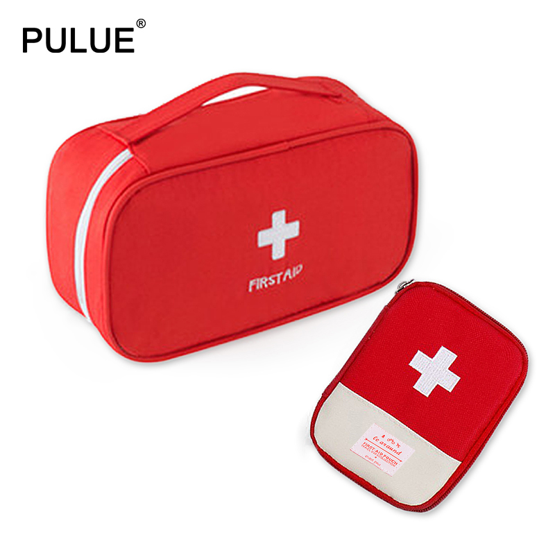 Essential For Outdoor Travel Accessories Portable Red First Aid Kit Home Emergency Drug Box Business Trip Medicine Bag Pill Case