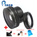 Pixco 52mm 0.25X Super Fisheye Wide Angle Lens + clean -Lens cleaning pen or Camera Dust Cleaner or Camera Lens bag