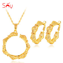 Sunny Jewelry Ethnic Jewelry Sets For Women Necklace Earrings Pendant Cubic Zirconia Dubai Jewelry Sets For Party Anniversary(China)