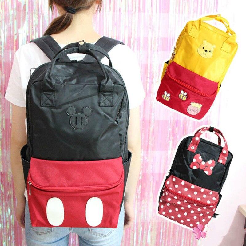 Лидер продаж большой Микки Мышь Минни Винни плюшевый рюкзак Для мужчин и Для женщин студент дорожная обоих плечах сумки Сумки для девочек подарок на день рождения