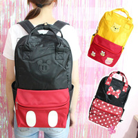Hot Large Mickey Mouse Minnie Winnie Plush Backpack Men And Women Student Travel Both Shoulders Bags Handbags Girl Birthday Gift