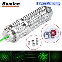 Bumlon Green Laser 50 80nm Pointer Mobile Lazer Pen Rechargeable Battery Light Adjustable Focus With 5 stars HT3 0031