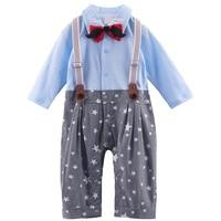 Newborn Baby Boys Gentleman Tuxedo Romper Fashion Clothing Sets