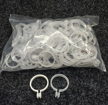 100Pieces/Lot Inner Diameter:35mm  Transparent Plastic Curtain Ring Rome Rod Live Mouth Open Hanging Buckle