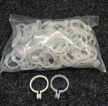 100Pieces/Lot Inner Diameter:35mm  Transparent Plastic Curtain Ring Rome Rod Live Mouth Open Ring Hanging Buckle 10pcs zirconium bar rod grade 702 as per astm b550 r60702 35mm diameter x 1000mm