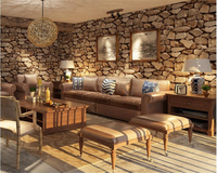Beibehang Pvc Retro Classic Stone Streets Culture 3d Wallpaper Living Room Bar Cafe Background Walls Papel