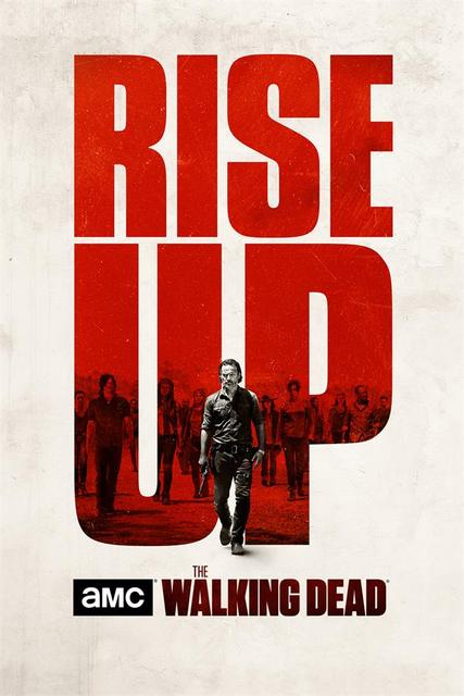 Custom Canvas Poster The Walking Dead Decals Rise Up Wallpaper The Walking Dead Wall Stickers Rick Grimes Wall Decor Mural #1064