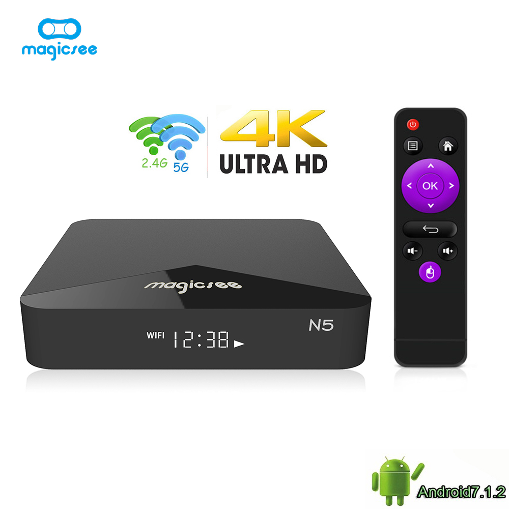 MAGICSEE N5 Android TV OS TV Box Amlogic S905X Android 7 1 2 2GB RAM 16GB