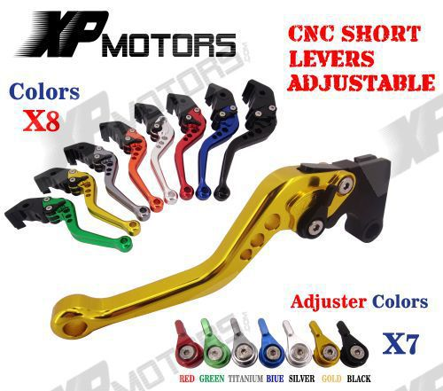 CNC Short Adjustable Brake Clutch Levers For Suzuki GSX-R600 GSX-R750 GSXR600 GSXR750 K4 K5 2004 2005 Lever With Adjuster рубашки
