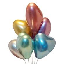 12 Popular Metallic Latex Balloon Heart Shaped Celebration Wedding Birthday Party Decoration Balloons Festival 10Pcs D20