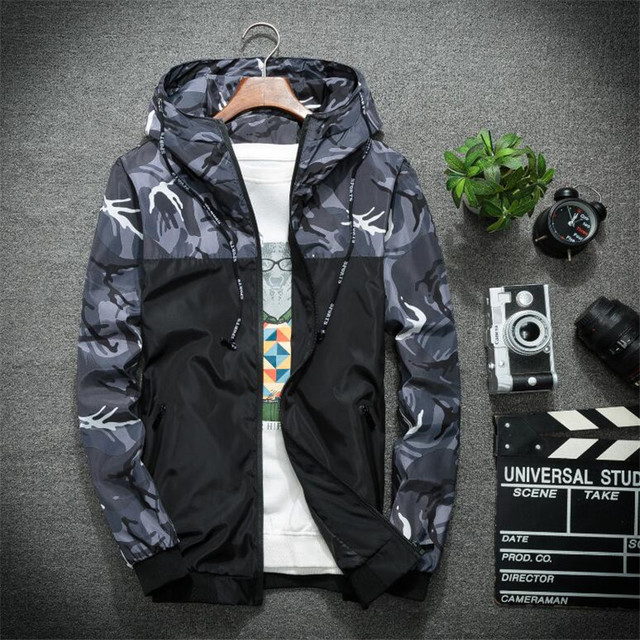 d0d2980afa8ac New Camouflage Jacket Men Plus Size Camo Hooded Windbreaker Jackets  Military Canvas Jacket Parka Fashion Streetwear-in Jackets from Men's  Clothing on ...