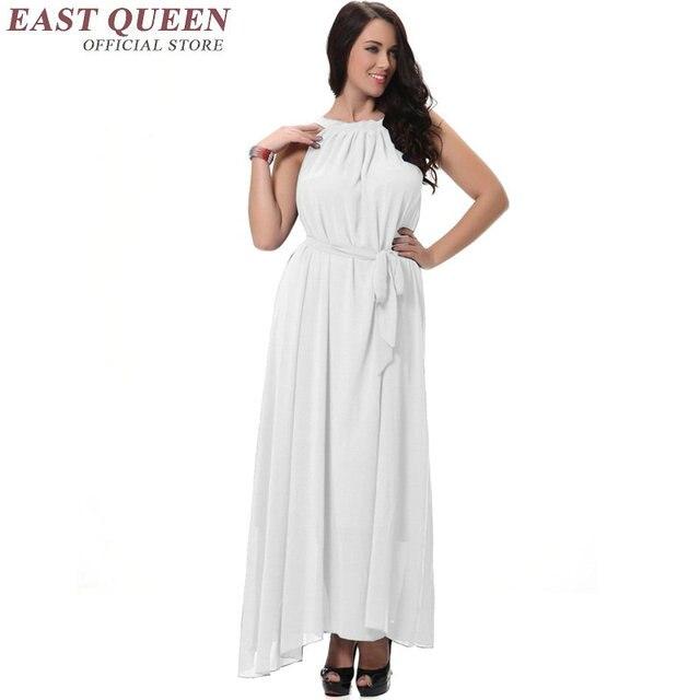 Summer Sleeveless Women Dress Plus Size 6l Long Beach Dress One