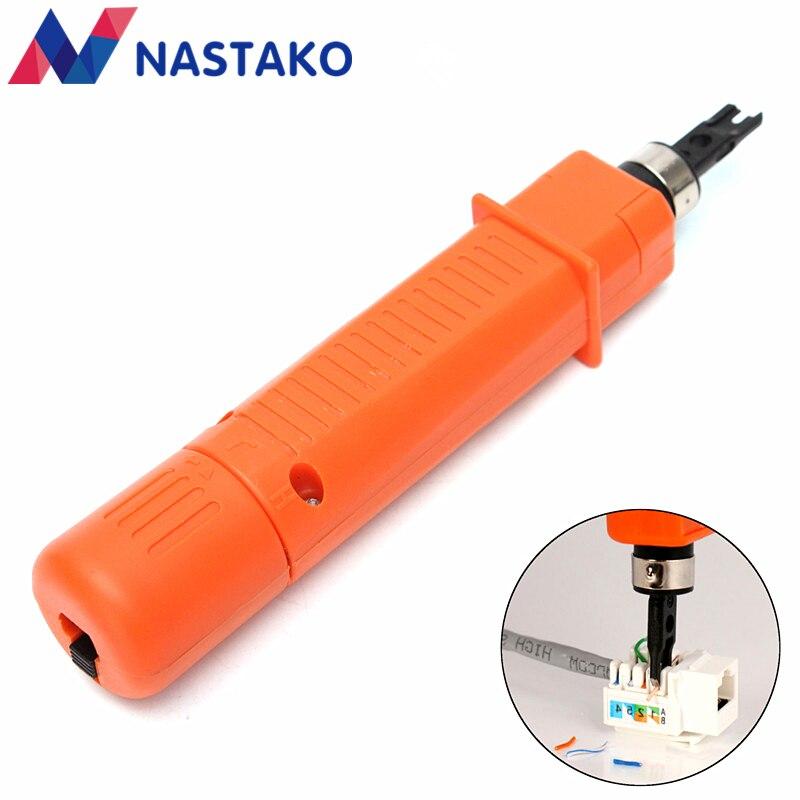 Nastako RJ45 сетевой кабель воздействие keystone toosl Модуль блок вставки Монтажным инструментом 110 Тип патч-панели Подключение инструмент cut